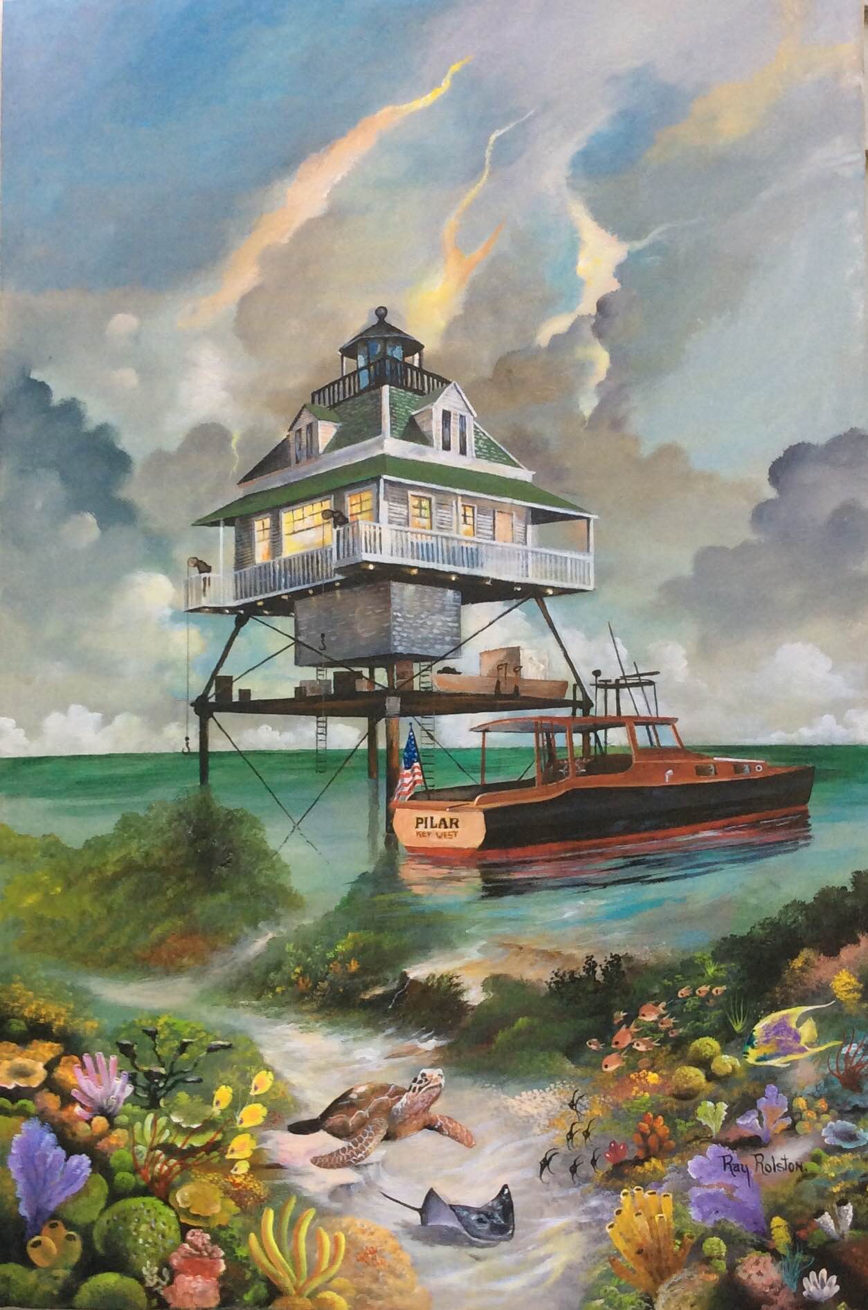 Hemingway Lighthouuse with Pilar – The Art Of Ray Rolston