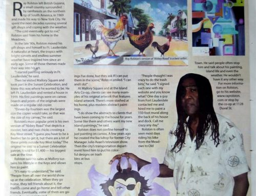 Ray at the newspaper