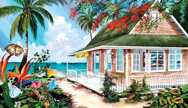 Tropical Island Landmarks